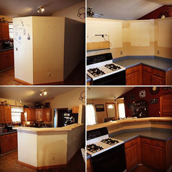 We made this kitchen an open concept
