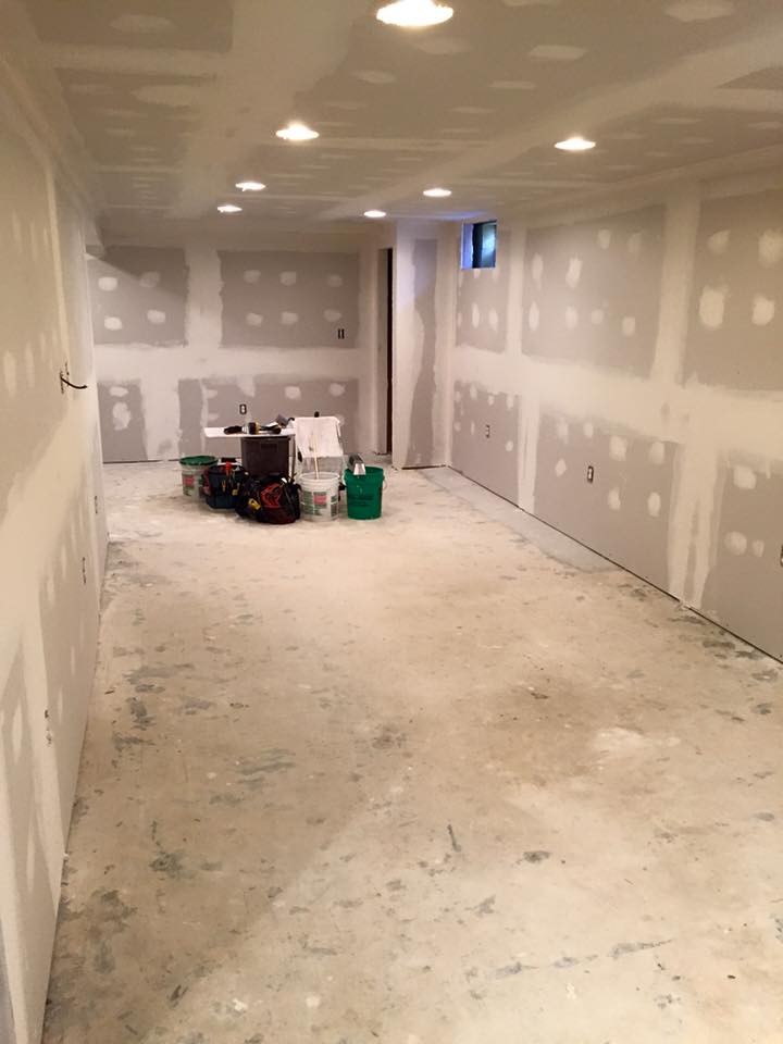 Drywall in Basement