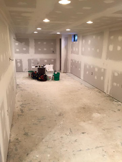 Drywall in Basement