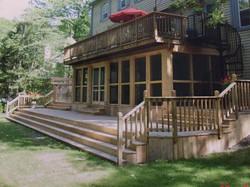 large cedar deck