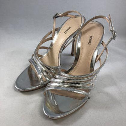 Schutz Silver High Heels