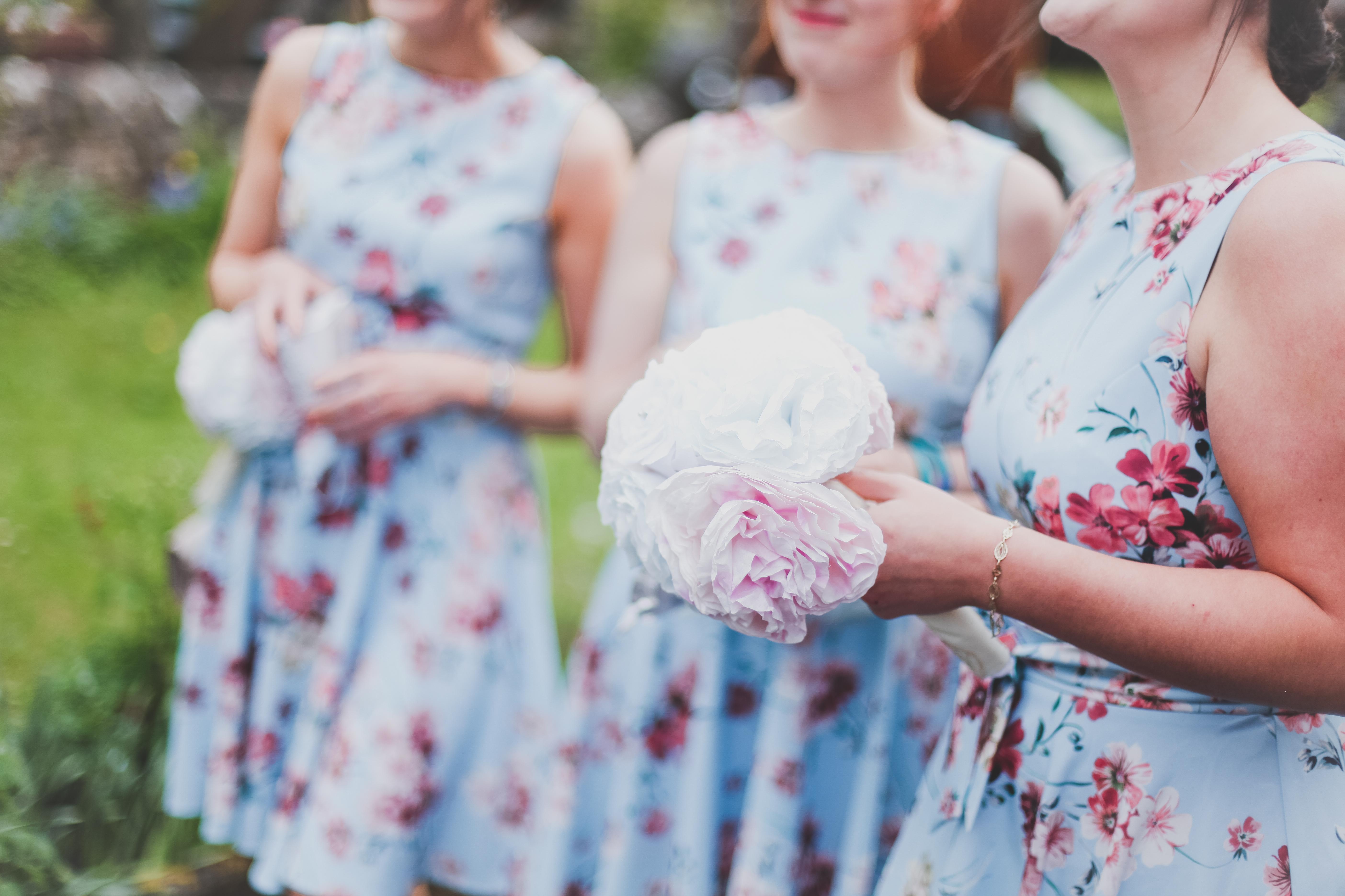 Peony bridesmaid bouquets