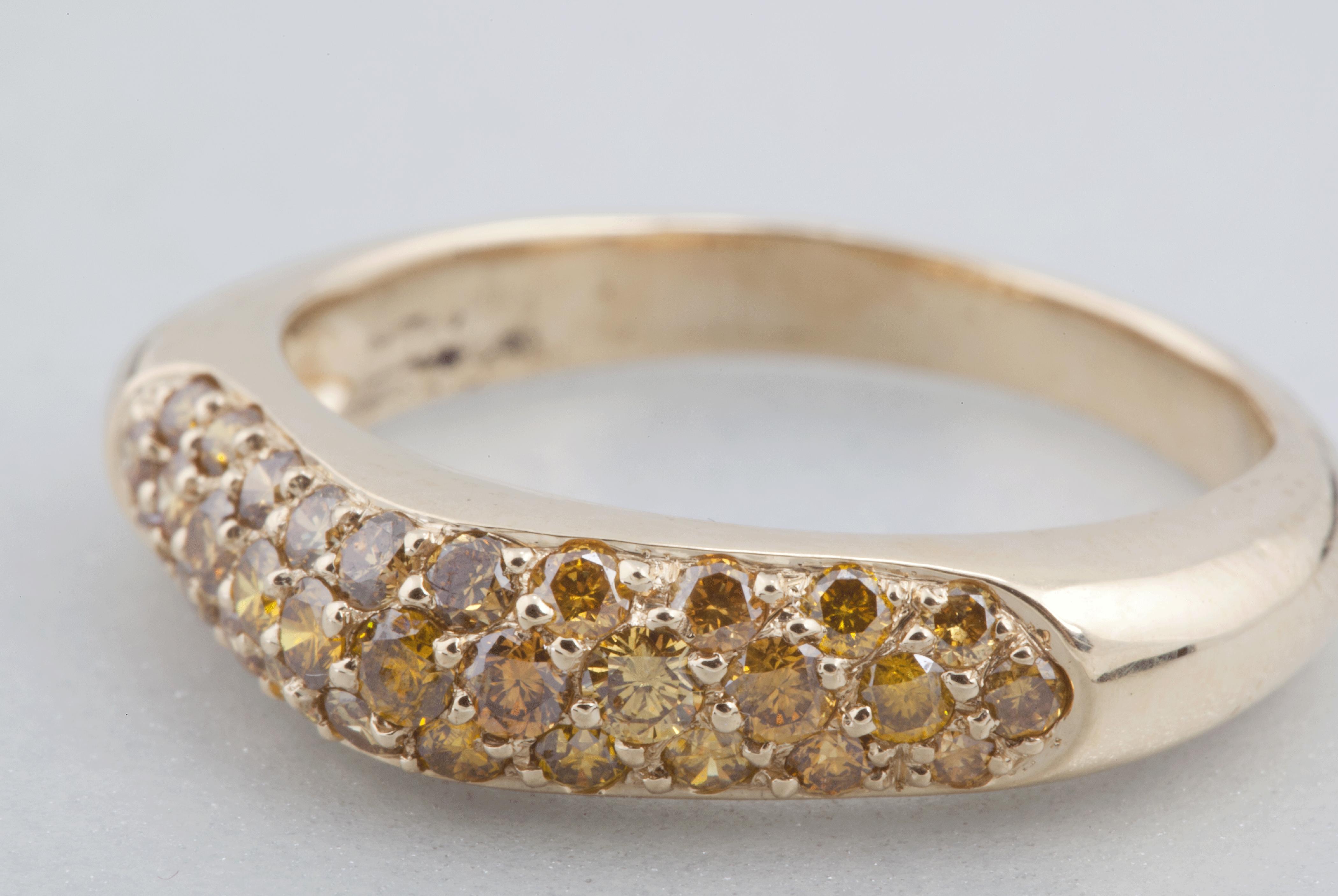 Bague Trio – Diamants jaune