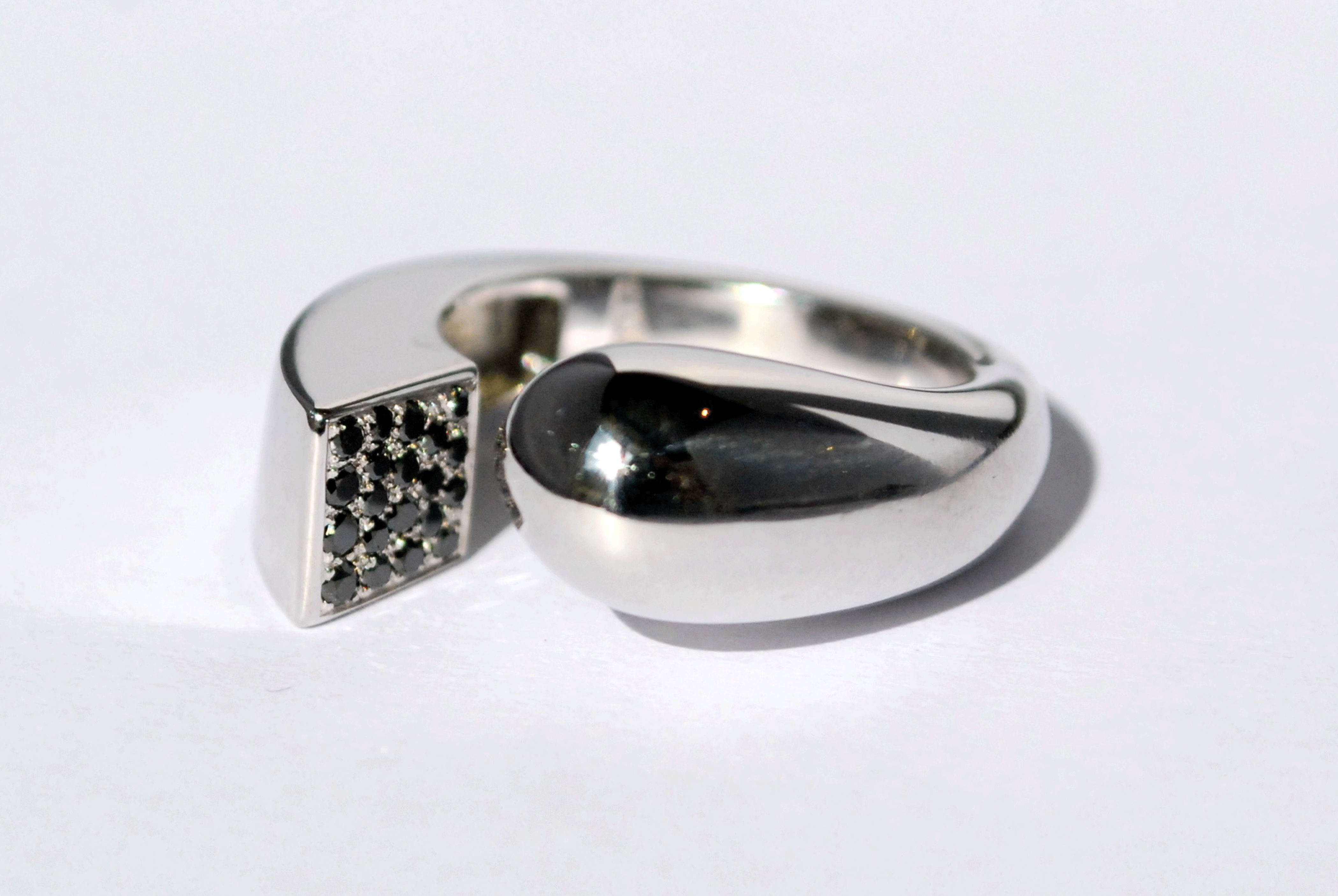 Bague Evolution - Diamant noir