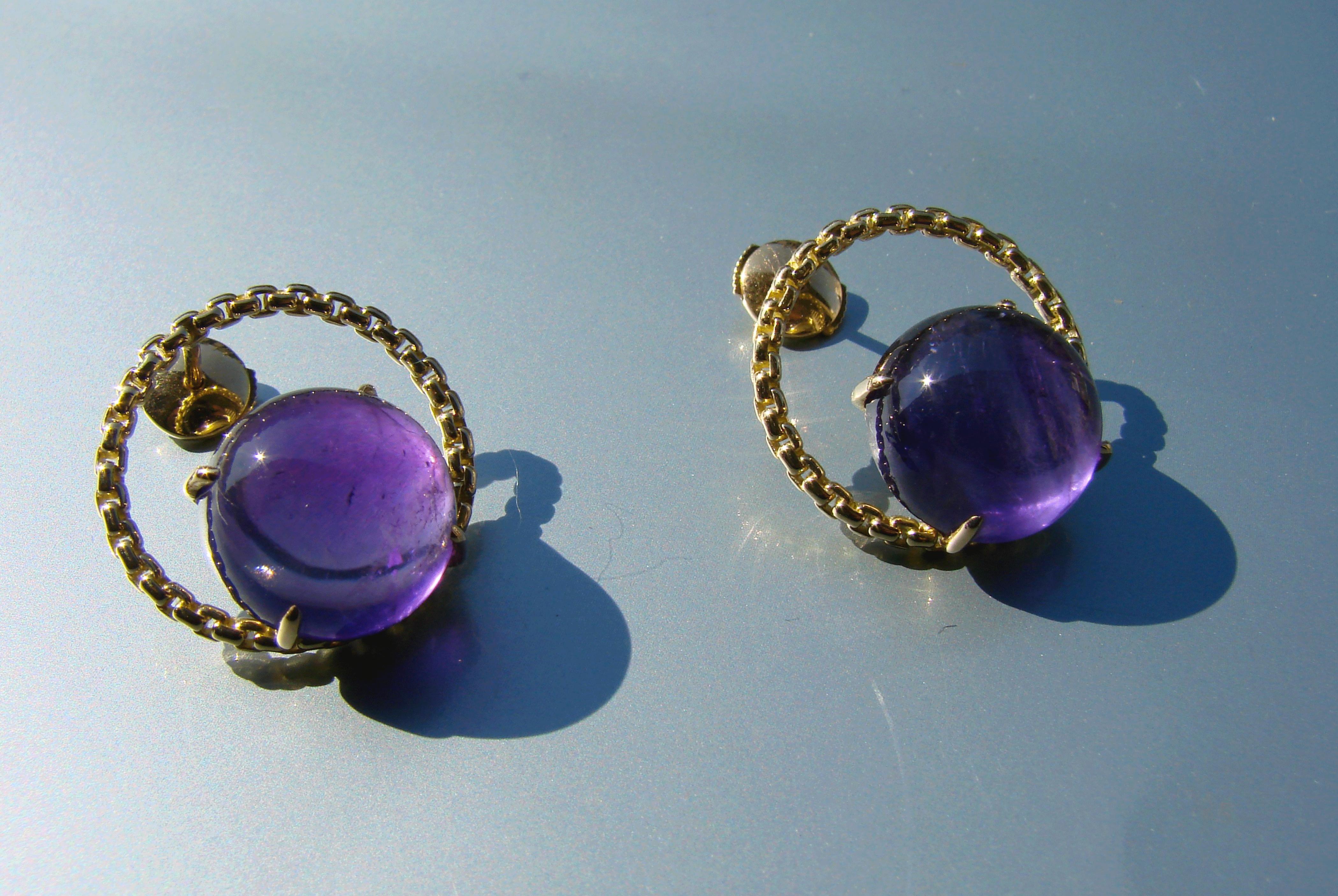 Bijoux d'oreilles Discrète Améthyste