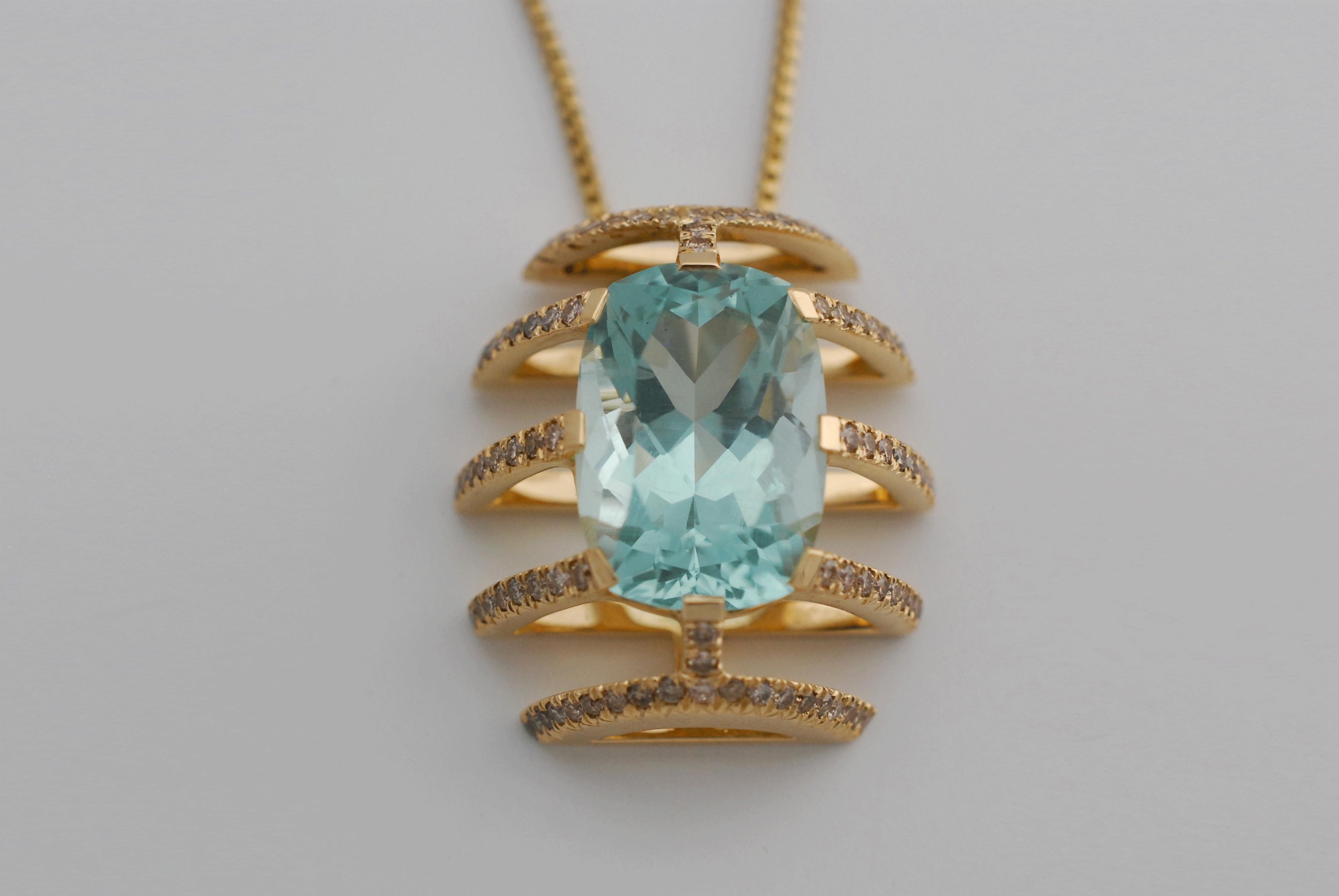Pendentif Céleste - Diamants & AM