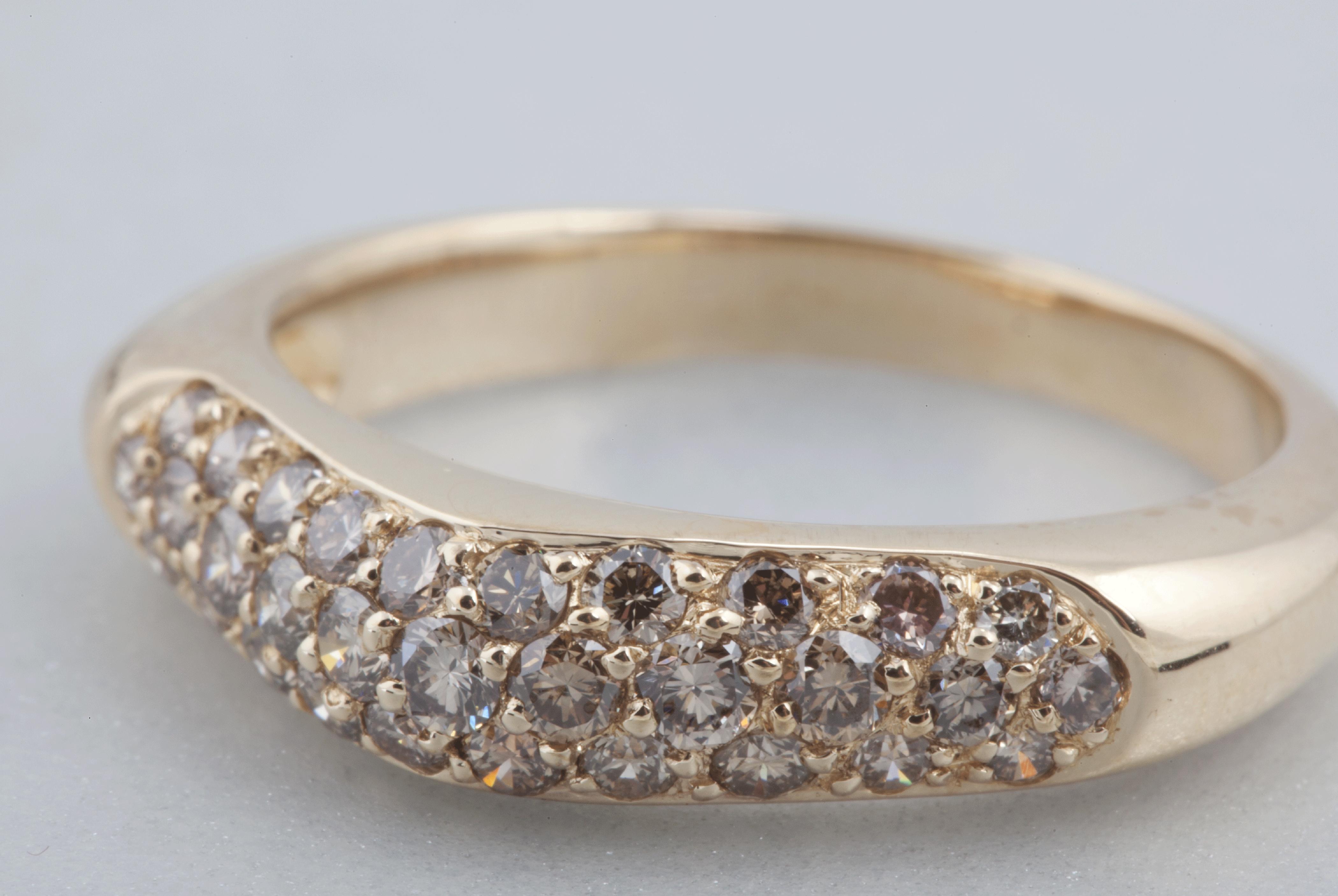 Bague Trio – Diamants champagne