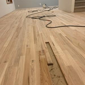 Floor repair in red oak harwood
