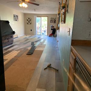 Vinyl plank floor installation