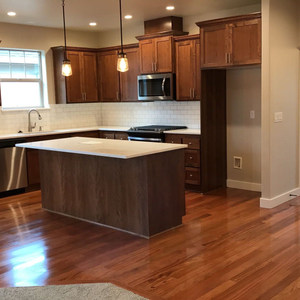 Brazillian cherry hardwood installation with water sealer and 2 coats water finish