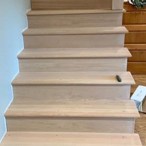 Installing white oak stairs