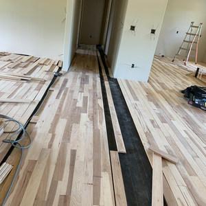 Hickory hardwood installation