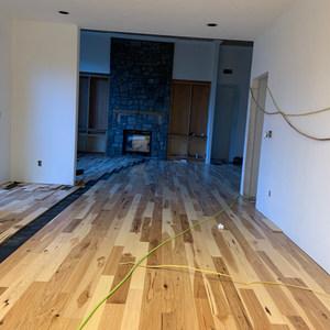 Hickory floor installation