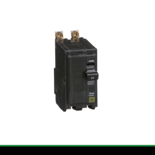 QOB UL, 2-Pole 15A Bolt-On Circuit Breaker  by Schneider Electric