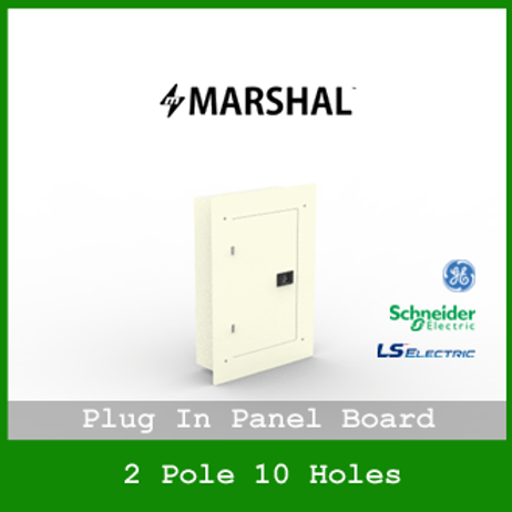 MARSHAL PLUG IN PANEL 10 HOLES 8 BRANCHES RECESSED MOUNTED TYPE MPB1155