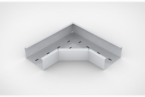 Horizontal Elbow Perforated  type Cable Tray with bolted cover