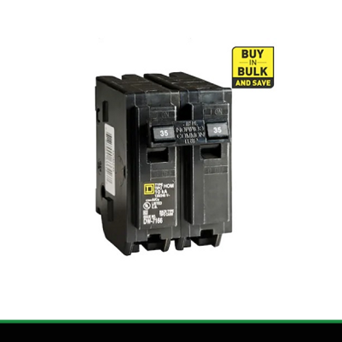 Homeline UL, 2-Pole 40A Plug-In Circuit Breaker by Schneider Electric Square D