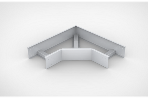 Horizontal Elbow Ladder type Cable Tray with bolted cover