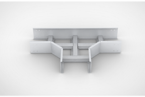Horizontal Tee Ladder type Cable Tray with bolted cover
