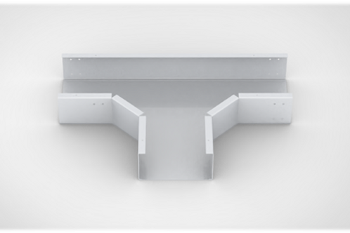 Horizontal Tee Close type Cable Tray with bolted cover