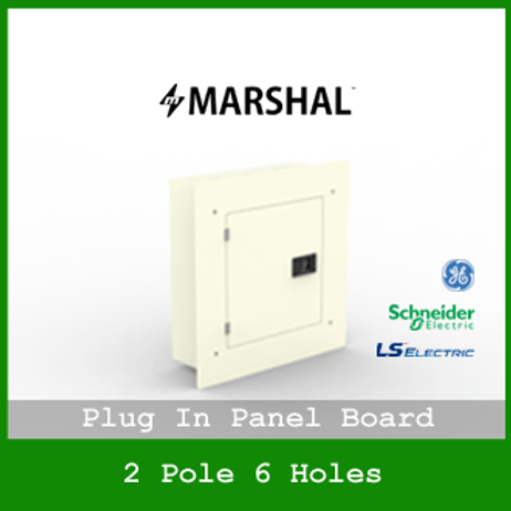 MARSHAL PLUG IN PANEL 6 HOLES 4 BRANCHES RECESSED MOUNTED TYPE MPB1133