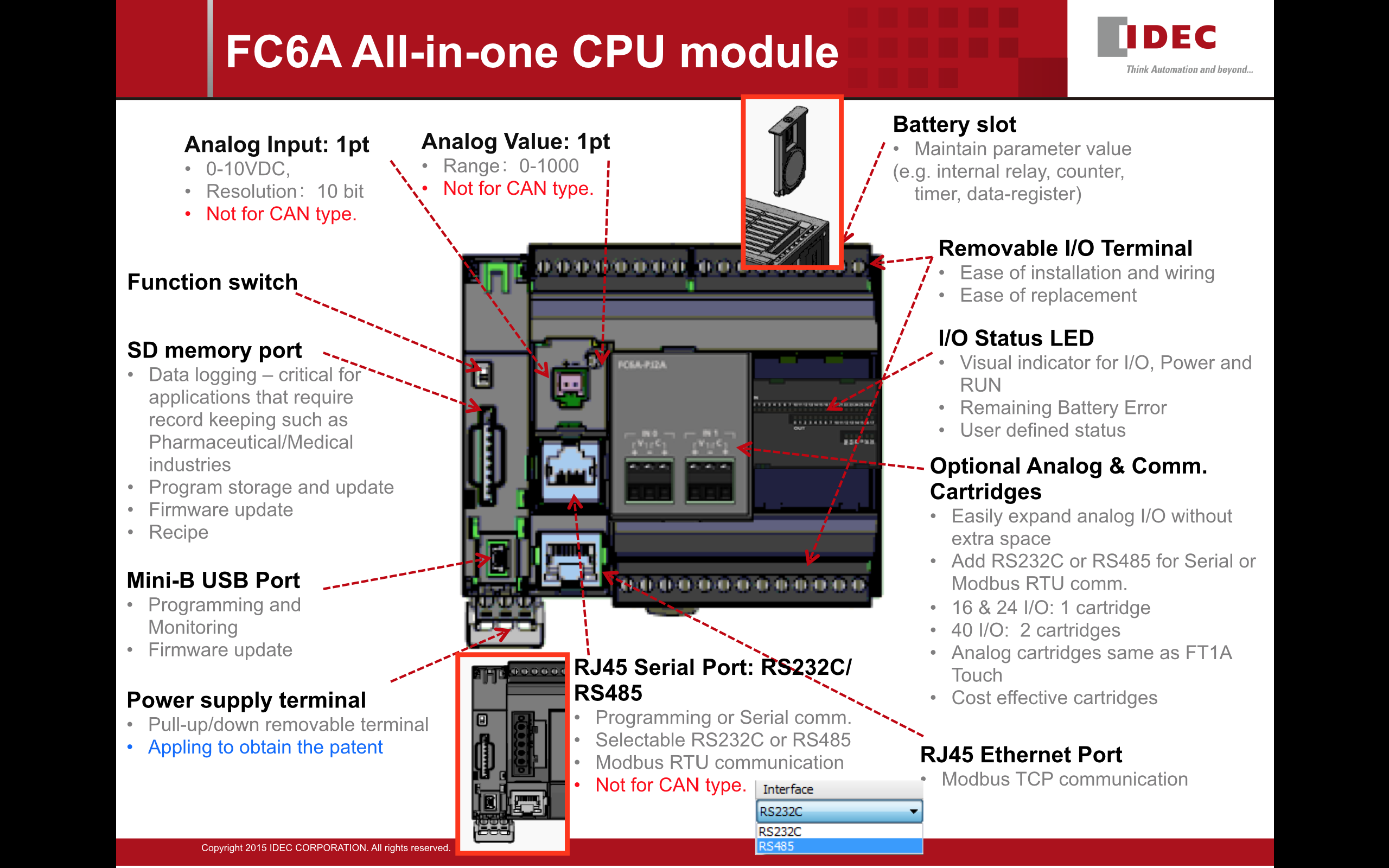 product launch microsmart fc6a series all in one type cpu modules rh marshalelectrical com Click plc Wiring plc Wiring Basics