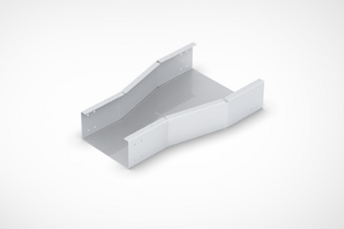 Horizontal Straight Reducer Cable Tray with bolted cover
