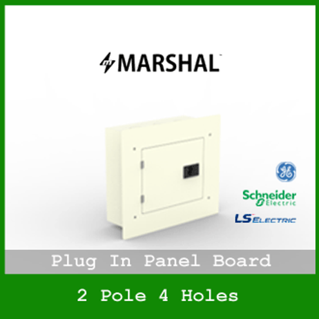 MARSHAL PLUG IN PANEL 4HOLES 2 BRANCHES RECESSED MOUNTED TYPE MPB1122