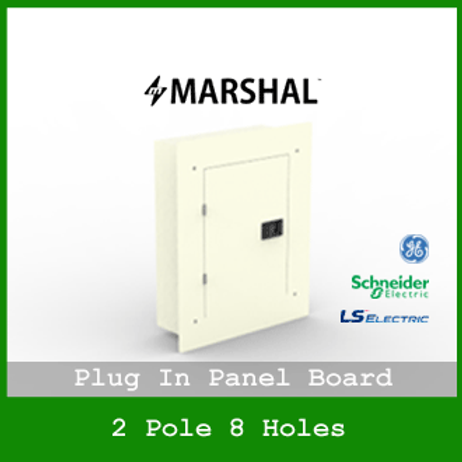 MARSHAL PLUG IN PANEL 8 HOLES 6 BRANCHES RECESSED MOUNTED TYPE MPB1144