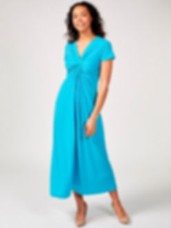 Jersey twist front dress_turq.jpg