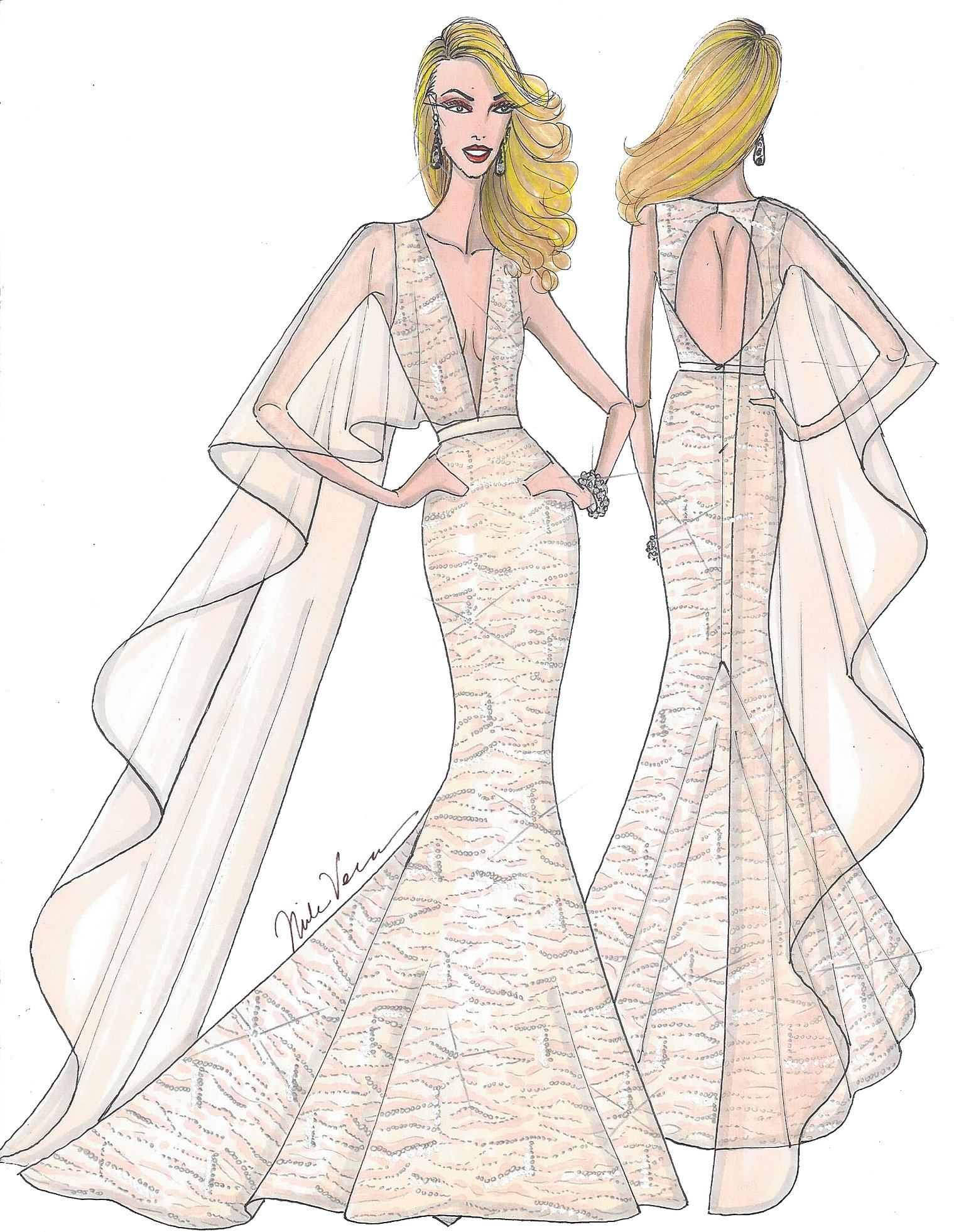 gown sketch – Fashion design images