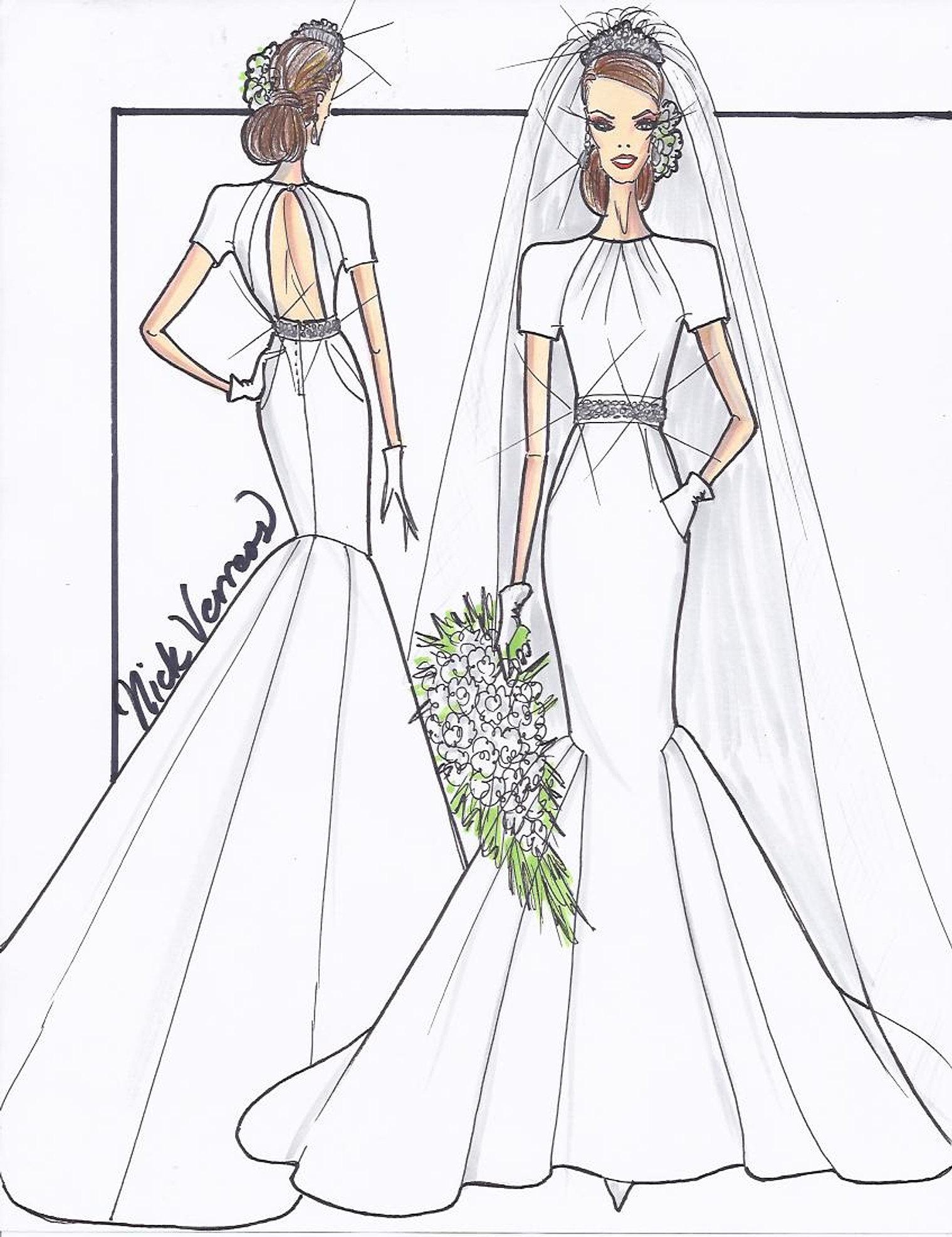fashion wedding dresses sketches
