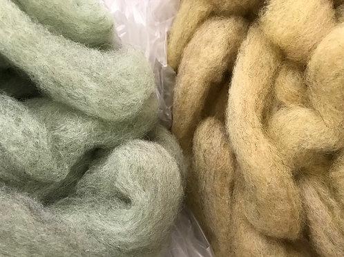 Shetland Roving - Plant Dyed - Per Ounce