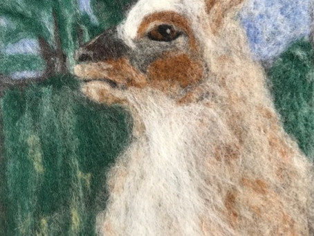 Taking a stab at needle felting