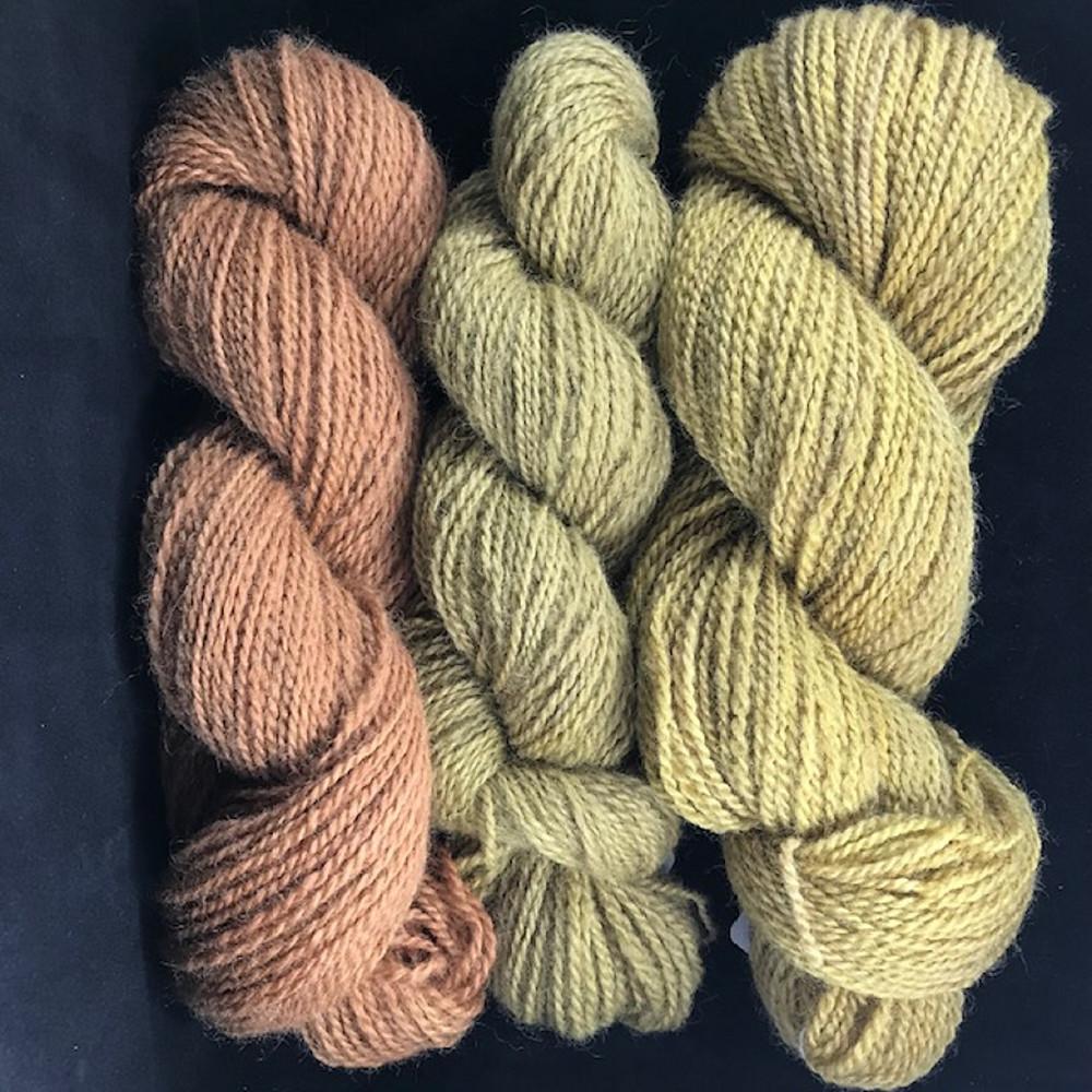 Plant dyed Shetland yarn