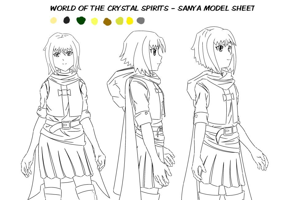 SANYA Model Sheet