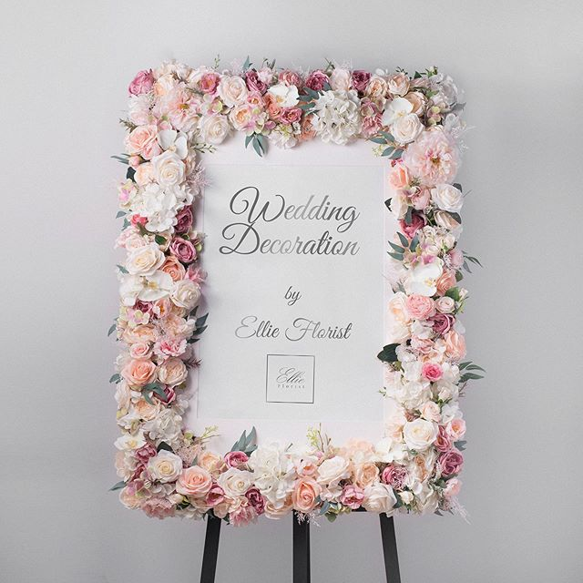 Beautiful flower frame for wedding 🌸_👰