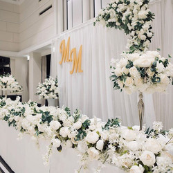 Stage decoration for elegant wedding - a