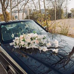 Flower decoration for wedding car 🌿👰🏻