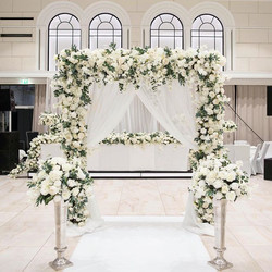Flower arch natural style with the mix o
