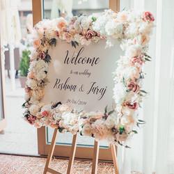 Beautiful welcome board 🌸🌸🌸_By _ellie