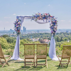 Flower arch for wedding decoration 💜by