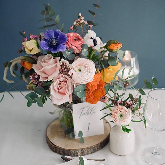 Colorful fresh table decoration for wedd