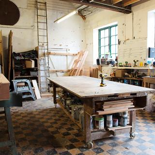 Inside The Bike Shed Co workshop