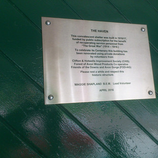 Clifton Downs Shelter Plaque