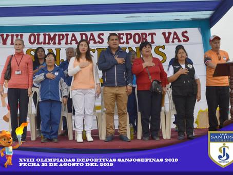 Inauguración de las XVIII Olimpiadas Sanjosefinas - 2019