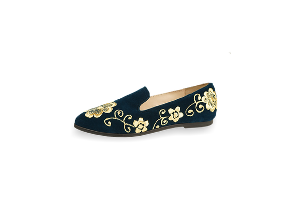 Women loafers Gold
