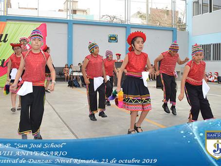 XVIII ANIVERSARIO - FESTIVAL DE DANZAS DEL NIVEL PRIMARIA
