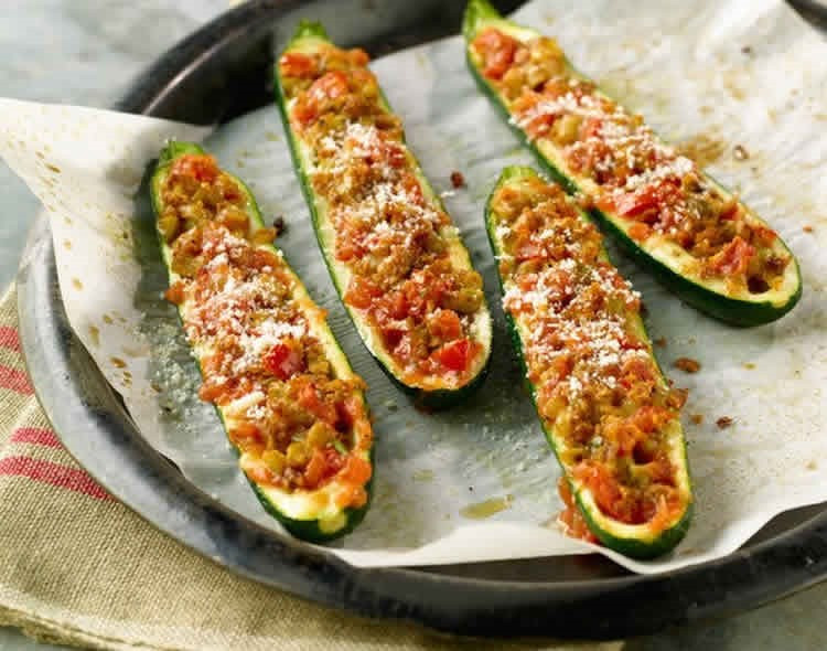 Courgettes Tomates Thon