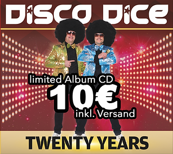 CD Cover - 20Y Disco Dice - limited Albu